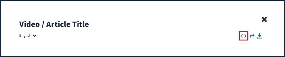 Modal Embed Icon
