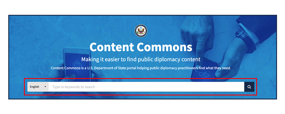 Content Commons Search Bar